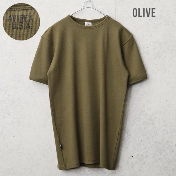クーポンで20%OFF!  AVIREX アビレックス アヴィレックス 半袖 クルーネック Tシャツ メンズ インナー トップス 半袖 無地 6143502|waiper|05