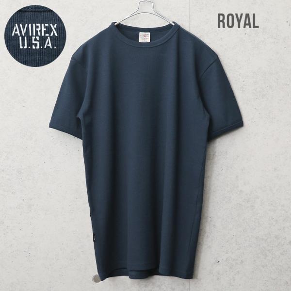 クーポンで20%OFF!  AVIREX アビレックス アヴィレックス 半袖 クルーネック Tシャツ メンズ インナー トップス 半袖 無地 6143502|waiper|06