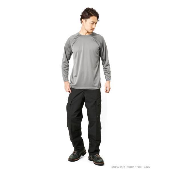 C.A.B.CLOTHING J.G.S.D.F. 自衛隊 COOL NICE 長袖Tシャツ インナー 肌着 アンダーシャツ 速乾 吸汗 ドライ 防臭 無地 6524 【クーポン対象外】 ブランド|waiper|02
