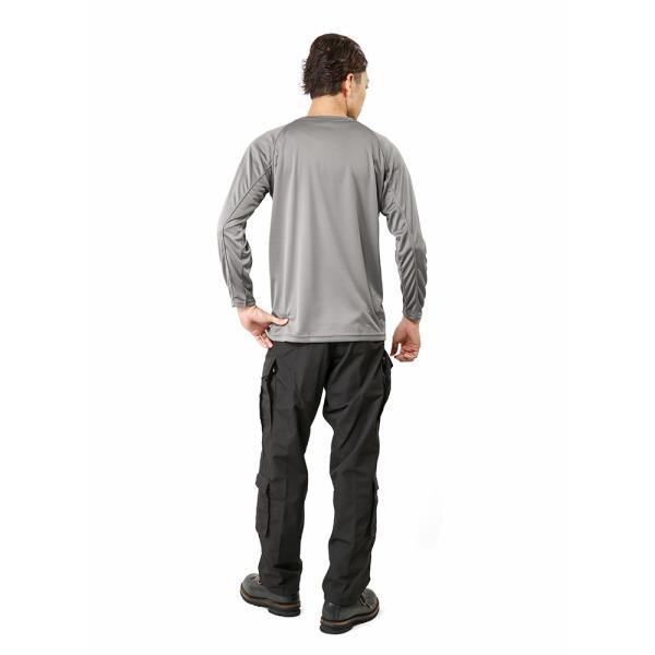C.A.B.CLOTHING J.G.S.D.F. 自衛隊 COOL NICE 長袖Tシャツ インナー 肌着 アンダーシャツ 速乾 吸汗 ドライ 防臭 無地 6524 【クーポン対象外】 ブランド|waiper|04