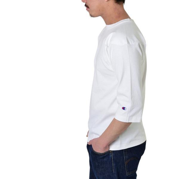 【ネコポス配送可】 Champion チャンピオン フットボールTシャツ C5-U403 T1011 7分袖 無地 メンズ MADE IN USA アメリカ製 アメカジ ブランド|waiper|02