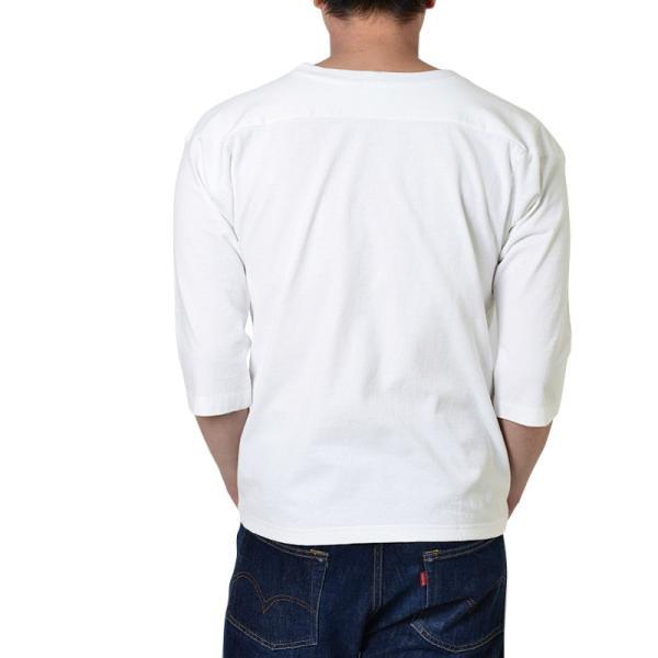 【ネコポス配送可】 Champion チャンピオン フットボールTシャツ C5-U403 T1011 7分袖 無地 メンズ MADE IN USA アメリカ製 アメカジ ブランド|waiper|03