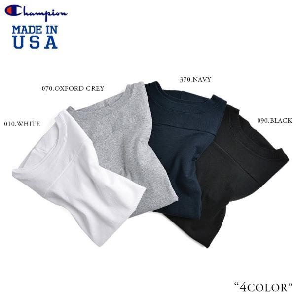 【ネコポス配送可】 Champion チャンピオン フットボールTシャツ C5-U403 T1011 7分袖 無地 メンズ MADE IN USA アメリカ製 アメカジ ブランド|waiper|04