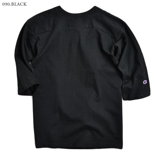 【ネコポス配送可】 Champion チャンピオン フットボールTシャツ C5-U403 T1011 7分袖 無地 メンズ MADE IN USA アメリカ製 アメカジ ブランド|waiper|05