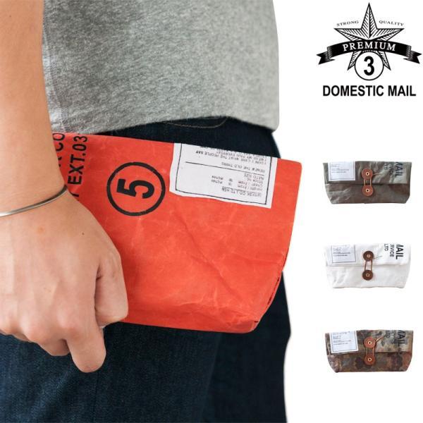 DOMESTICMAILドメスティックメールTYPEGUNKAMINo.5紙製日本製ハンドメイドポーチクラッチバッグ化粧ポーチブ