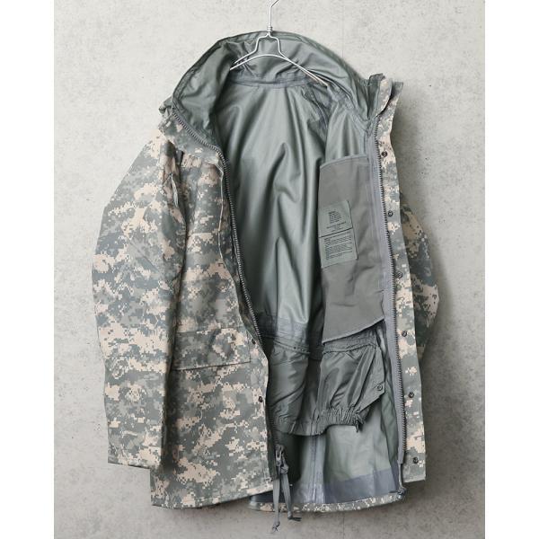 セール25%OFF!実物 新品 米軍 ECWCS 2nd Gen ゴアテックスパーカ ACU デッドストック メンズ ミリタリージャケット レインジャケット 防水 アウター GORE-TEX waiper 05