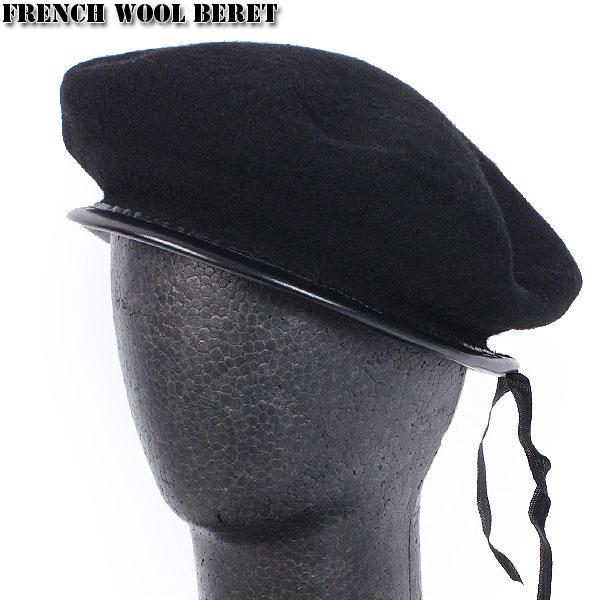 セール15%OFF!ミリタリーグッズ ベレー帽 新品 フランス軍ウールベレー帽 ブラック|waiper