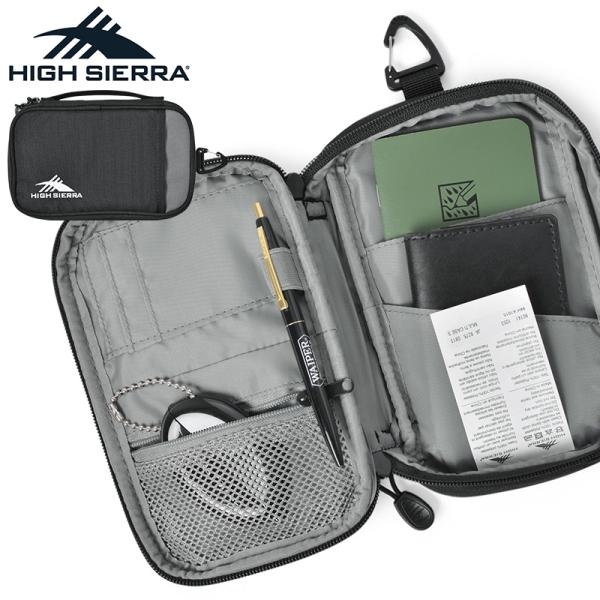HIGHSIERRAハイシェラ90741MULTICASES(マルチケースS)パスポートケーストラベルポーチバッグインバッグ小分