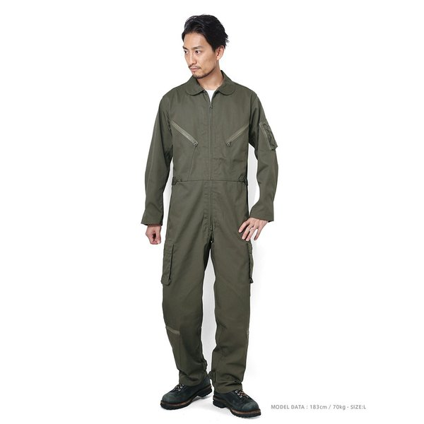 HOUSTON ヒューストン 5130 日本製 U.S.A.F(米空軍) K-2B フライトスーツ メンズ ミリタリー つなぎ カバーオール 作業服|waiper|12