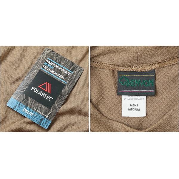 KENYON ケニヨン MADE IN USA 米軍使用 POLARTEC DELTA ロングスリーブ Tシャツ メンズ 長袖 ベースレイヤー インナー ポーラテックデルタ ミリタリー ブランド waiper 09