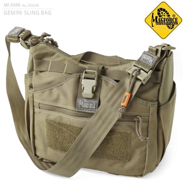 d15c962b4650 MAGFORCE マグフォース MF-0498 GEMINI SLING BAG ショルダーバッグ TAN メンズ ミリタリーバッグ スリング ...