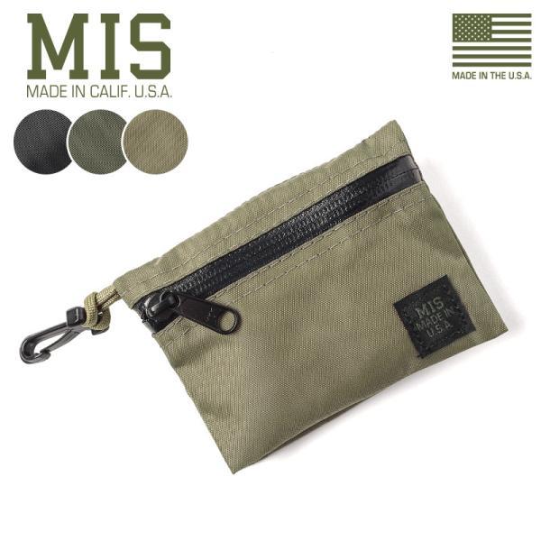 MISエムアイエスMIS-1040ダブルスモールポーチMADEINUSAメンズコインケースポーチ小銭入れ小物バッグミリタリーブラ