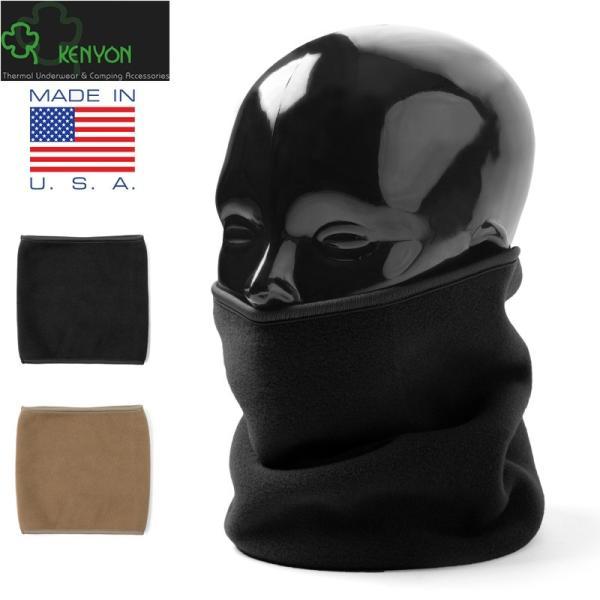 店内20%OFF! 新品 KENYON製 米軍使用 POLARTECネックウォーマー BLACK|waiper