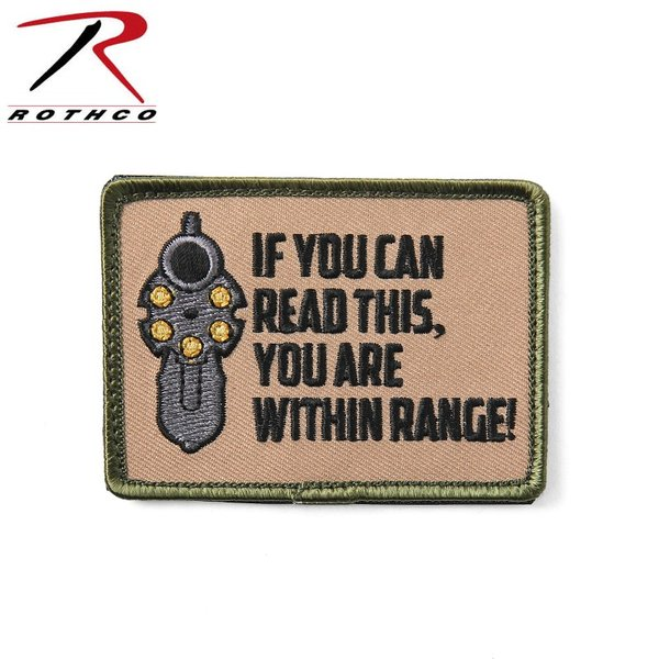 ROTHCO ロスコ 72202 IF YOU CAN READ THIS YOU ARE WITHIN RANGE! パッチ ワッペン ベルクロタイプ マジックテープ 刺繍 ミリタリー ブランド【T】