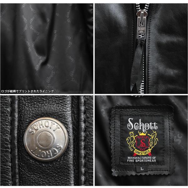 ショットライダース Schott 3101054 シングル ブレスト ライダースジャケット メンズ 革ジャン レザージャケット ブランド アメカジ 新作【クーポン対象外】|waiper|09