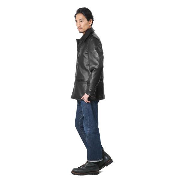 Schott ショット 533US レザーカーコート 7420 メンズ ファラオジャケット 革ジャン 本革 ジャンパー レザージャケット ブランド 【クーポン対象外】 waiper 03