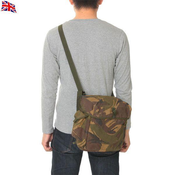 ミリタリーバッグ実物USEDイギリス軍2WAYガスマスクバッグDPMカモショルダーバッグ迷彩カモフラージュ放出品 クーポン対象外