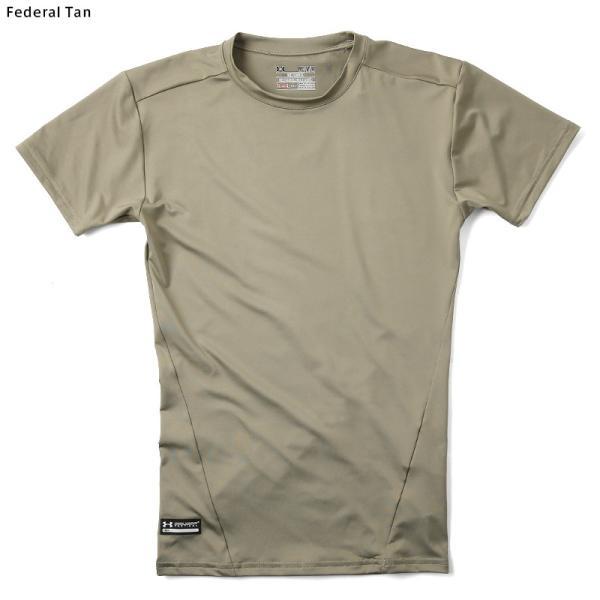 UNDER ARMOUR TACTICAL アンダーアーマー タクティカル HEAT GEAR COMPRESSION S/S Tシャツ 1216007 速乾 吸汗 ドライ 半袖 メンズ インナー|waiper|06