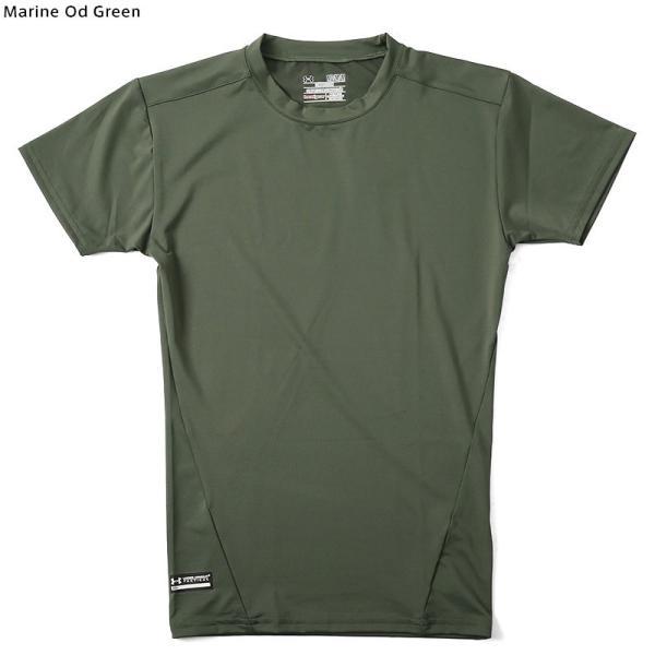 UNDER ARMOUR TACTICAL アンダーアーマー タクティカル HEAT GEAR COMPRESSION S/S Tシャツ 1216007 速乾 吸汗 ドライ 半袖 メンズ インナー|waiper|07