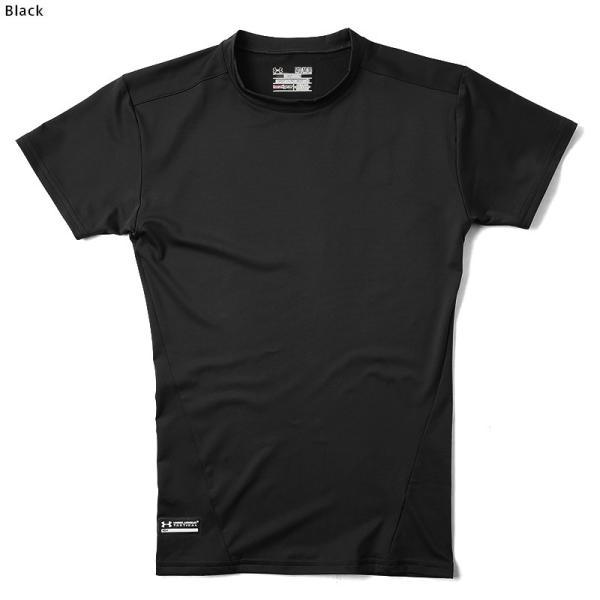 UNDER ARMOUR TACTICAL アンダーアーマー タクティカル HEAT GEAR COMPRESSION S/S Tシャツ 1216007 速乾 吸汗 ドライ 半袖 メンズ インナー|waiper|08