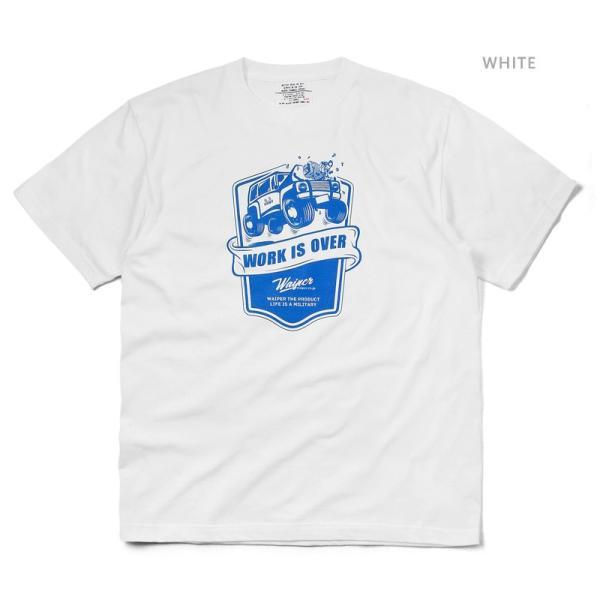 WAIPER.inc 1920007 S/S プリント Tシャツ WORK IS OVER ミリタリー メンズ レディース カットソー 半袖 インナー 車 ブランド メーカー【Sx】 waiper 02