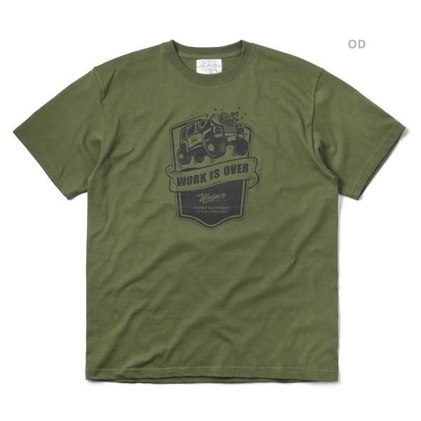 WAIPER.inc 1920007 S/S プリント Tシャツ WORK IS OVER ミリタリー メンズ レディース カットソー 半袖 インナー 車 ブランド メーカー【Sx】 waiper 04