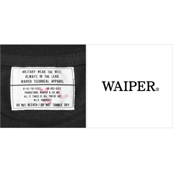 WAIPER.inc 1920007 S/S プリント Tシャツ WORK IS OVER ミリタリー メンズ レディース カットソー 半袖 インナー 車 ブランド メーカー【Sx】 waiper 08