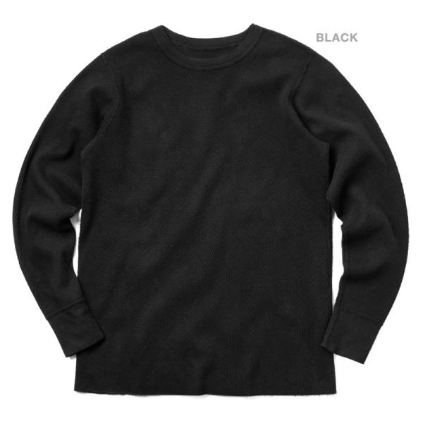 新品 米軍 コールドウェザーアンダーシャツ WAIPER.inc MADE IN USA メンズ サーマル Tシャツ ロンT ハニカムワッフル ミリタリー ブランド【Sx】|waiper|04