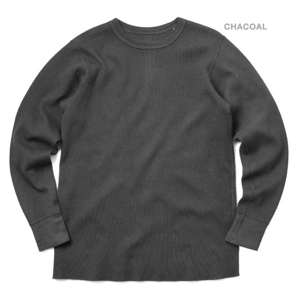 新品 米軍 コールドウェザーアンダーシャツ WAIPER.inc MADE IN USA メンズ サーマル Tシャツ ロンT ハニカムワッフル ミリタリー ブランド【Sx】|waiper|05