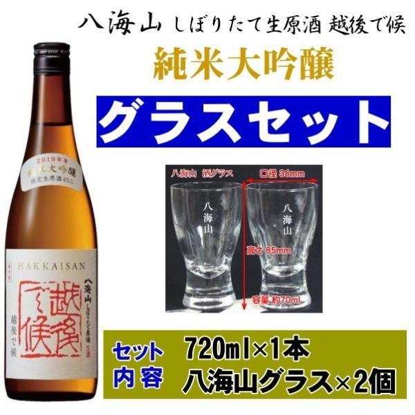 八海山 越後で候 純米大吟醸 赤越後 日本酒 720ml オリジナルグラスセット wakamatsuya