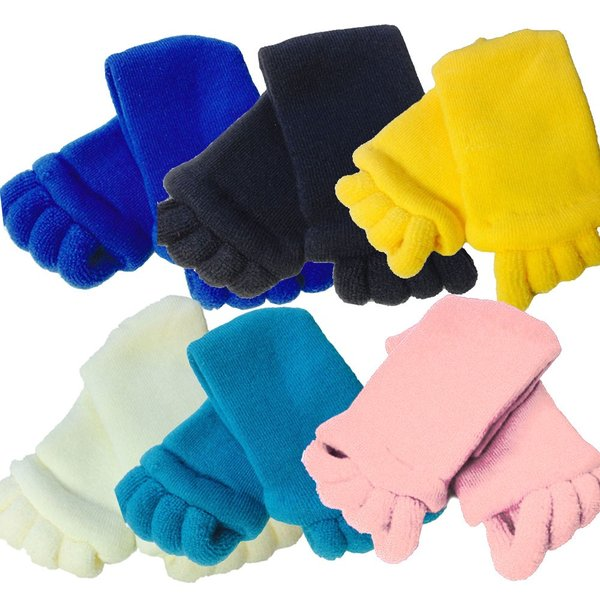 セラピーソックス 足指 スリーピングソックス 6色より選択可 ホワイト ブルー スカイブルー ピンク イエロー ブラック |wakasugi2012|02