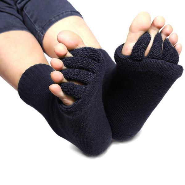 セラピーソックス 足指 スリーピングソックス 6色より選択可 ホワイト ブルー スカイブルー ピンク イエロー ブラック |wakasugi2012|05