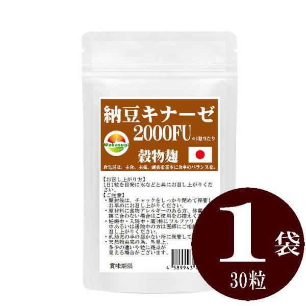 納豆サプリメント 熟生ナットウキナーゼ&レシチン 30粒 メール便発送|wakasugi2012|02
