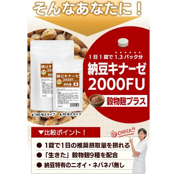 納豆サプリメント 熟生ナットウキナーゼ&レシチン 30粒 メール便発送|wakasugi2012|05
