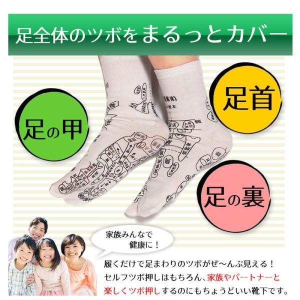 足つぼ靴下  足裏につぼをプリントしたユニークな靴下 22〜26cm|wakasugi2012|12