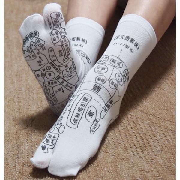 足つぼ靴下  足裏につぼをプリントしたユニークな靴下 22〜26cm|wakasugi2012|03