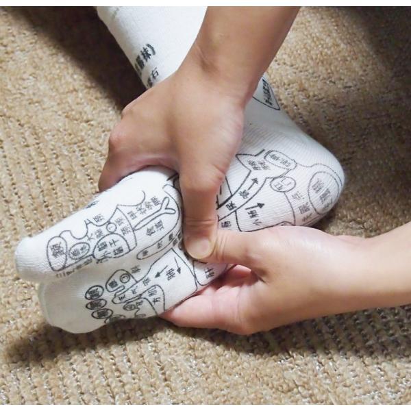 足つぼ靴下  足裏につぼをプリントしたユニークな靴下 22〜26cm|wakasugi2012|06