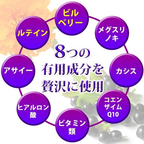 ビルベリー&ルテイン 60粒 3袋セット 合計180粒 コエンザイムQ10配合  メール便発送|wakasugi2012|08