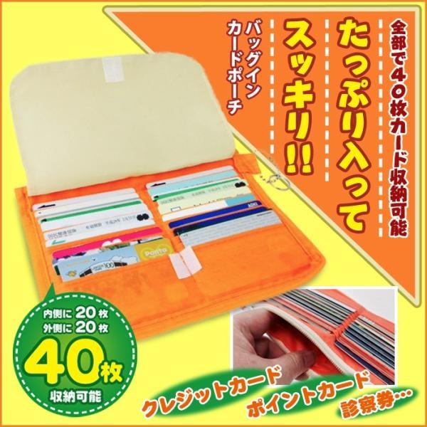バッグ イン カードポーチ カードフォルダー カードケース 40枚収納可能 メール便発送 注目商品