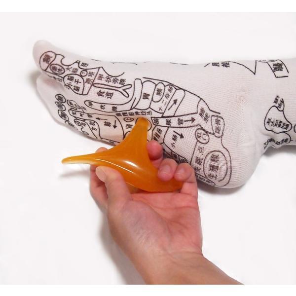 足ツボ靴下 オカリナ型カッサ付き 足つぼおしソックス  反射区靴下|wakasugi2012|02
