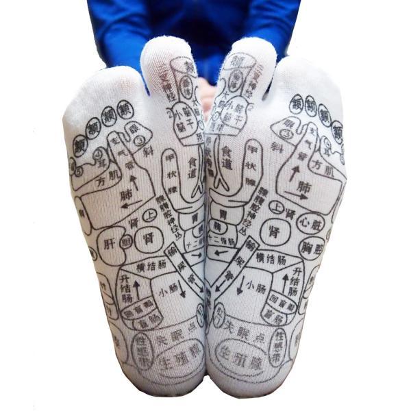 足ツボ靴下 オカリナ型カッサ付き 足つぼおしソックス  反射区靴下|wakasugi2012|05