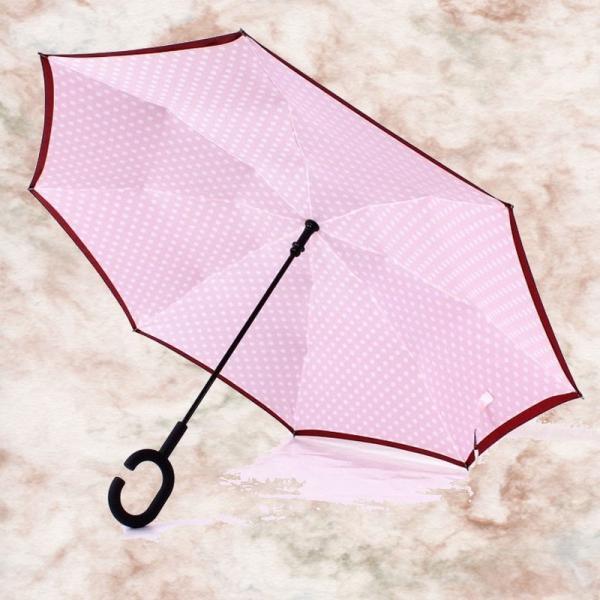 逆さ傘 濡れない傘 濡らさない傘 UVカット 逆さまの傘 男女兼用 傘 おしゃれ 美しいデザイン 超撥水加工|wakasugi2012|02