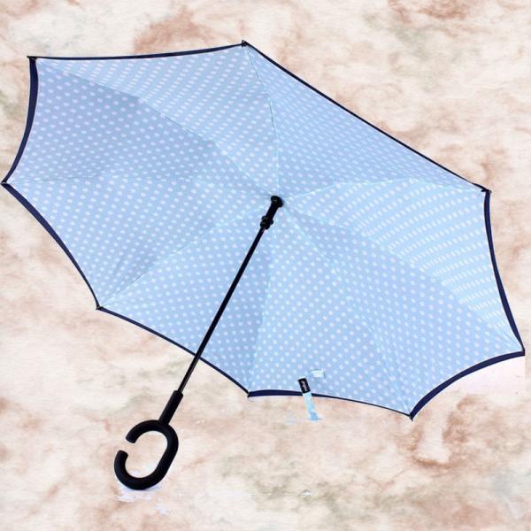逆さ傘 濡れない傘 濡らさない傘 UVカット 逆さまの傘 男女兼用 傘 おしゃれ 美しいデザイン 超撥水加工|wakasugi2012|03