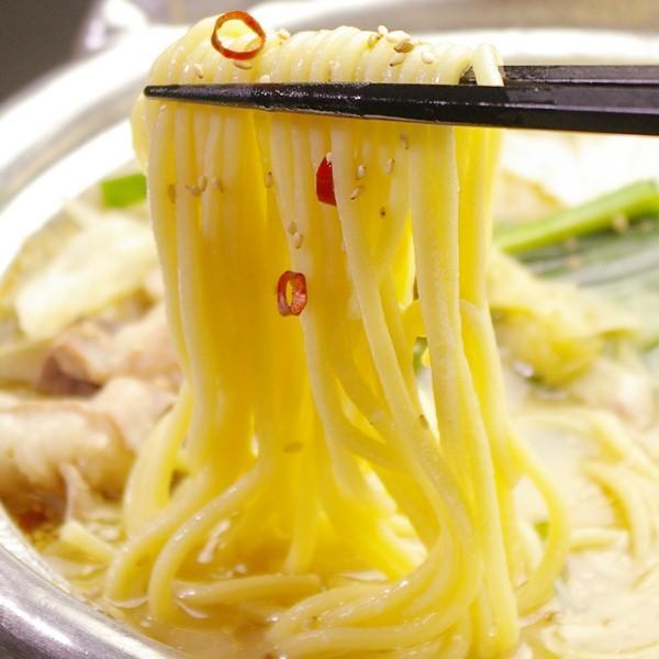 ちゃんぽん麺 (150g×1玉) 若杉 もつ鍋 追加具 麺 チャンポン麺 モツ鍋 冷凍 ちゃんぽんめん チャンポンめん|wakasugi|03