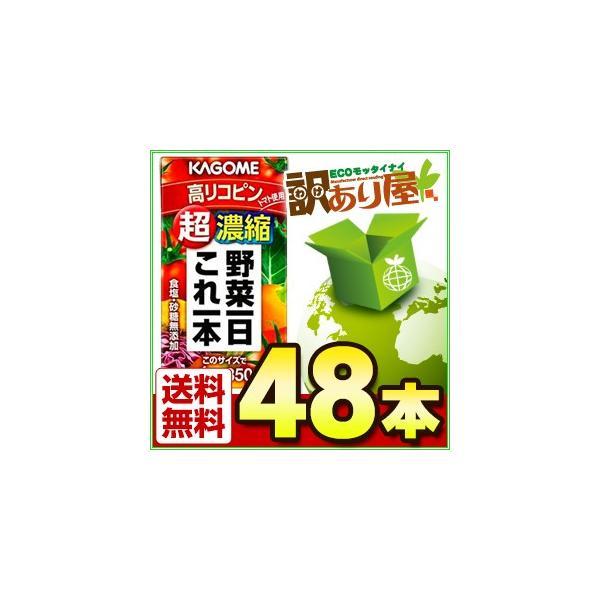 カゴメ 野菜一日これ一本 超濃縮 高リコピン 125ml×48本 野菜ジュース kagome わけあり 近畿A宅配便B|wakeariya