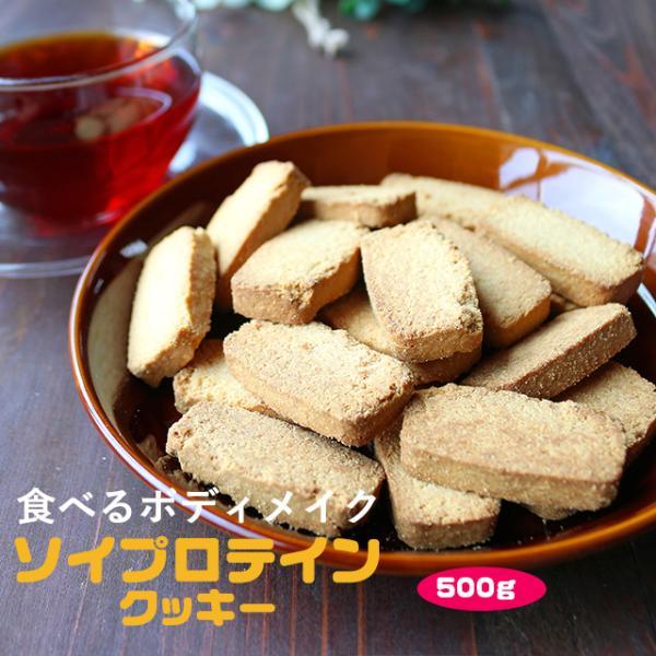 プロテイン 豆乳 おからクッキー チャック付き 500g (500g×1袋) 訳あり食品 わけあり スイーツ メール便A TSG TN wakeariya
