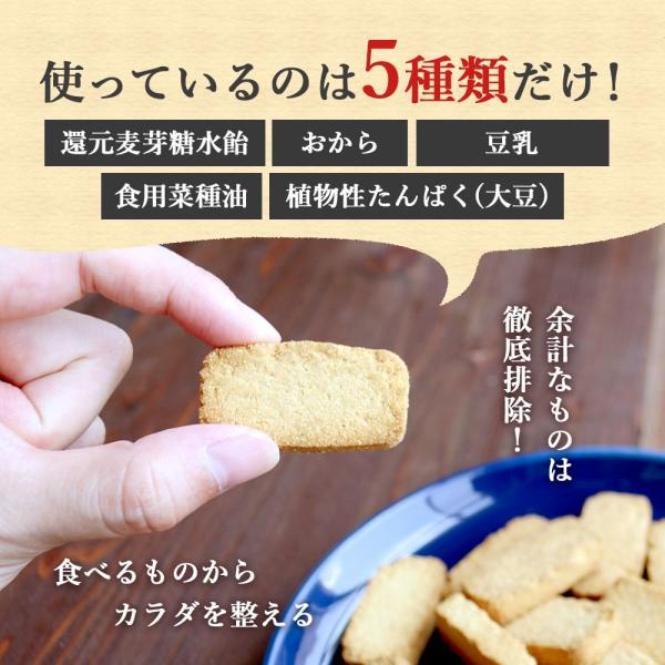 プロテイン 豆乳 おからクッキー チャック付き 500g (500g×1袋) 訳あり食品 わけあり スイーツ メール便A TSG TN wakeariya 09