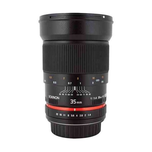 Rokinon ロキノン 35mm f/1.4 Wide-Angle US UMC Aspherical Lens 広角 for Nikon With Focus Confirm Ch