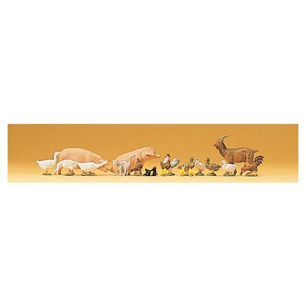Preiserプライザー79093小動物セットブタニワトリアヒルなど Nゲージ人形  塗装済み  ジオラマ小物