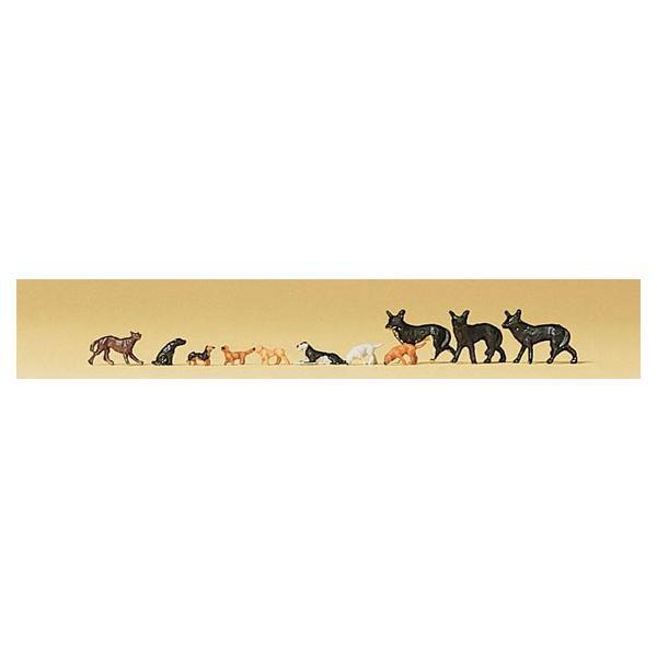 Preiserプライザー79122小動物セット犬など Nゲージ人形  塗装済み  ジオラマ小物